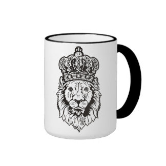 Crowned Lion's Head Ringer Mug