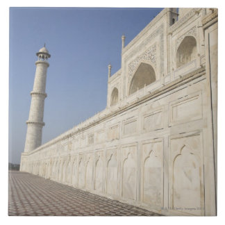 Crowned minarets at Taj Mahal, view from Chhatri Ceramic Tile