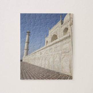 Crowned minarets at Taj Mahal, view from Chhatri Jigsaw Puzzle