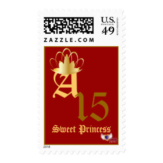 Crowned Monogram Postage -Customize