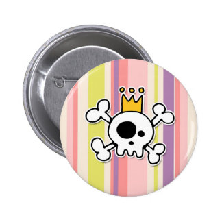 crowned skull 2 inch round button