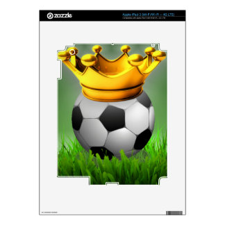 Crowned Soccer Decals For iPad 3