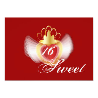 "Crowned Soul Sweet Sixteen Invitation-Cust. 5"" X 7"" Invitation Card"