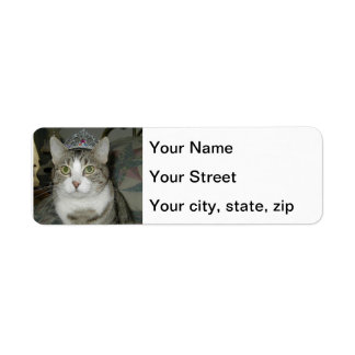 Crowned Tabby Cat Label