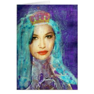 Crowned Zetti Girl, Birthday Greeting Cards
