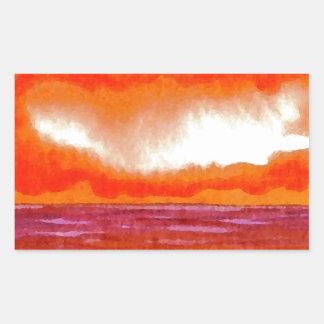 Crowning Glory Ocean Sunset Sunrise Seascape Rectangle Sticker