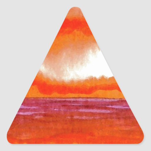 Crowning Glory Ocean Sunset Sunrise Seascape Triangle Sticker