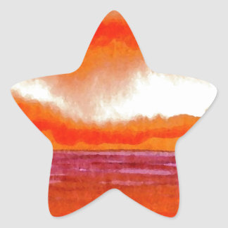 Crowning Glory Ocean Sunset Sunrise Seascape Star Stickers