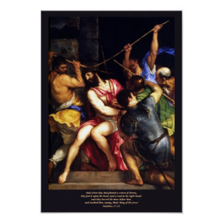 Crowning With Thorns - Titian Poster