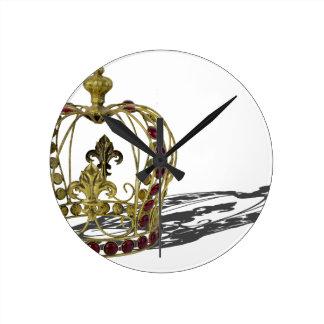 CrownRedGems110814.png Round Clock