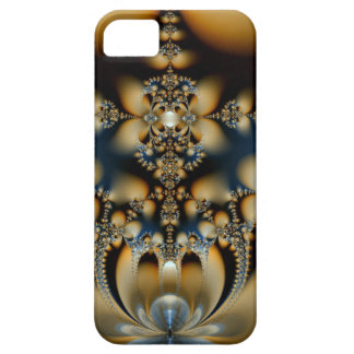 Crowns - Design into gold-blue iphone 5 covering iPhone SE/5/5s Case