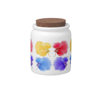 Crowntail Betta Splendens Fish Candy Jar