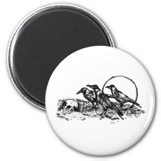 Crows 2 Inch Round Magnet