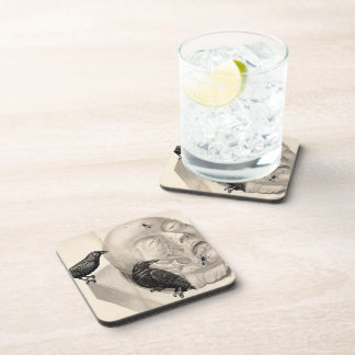 Crows and corpse drink coaster