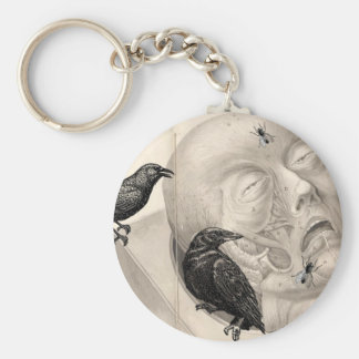 Crows and corpse keychain