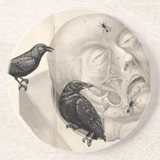 Crows and corpse sandstone coaster
