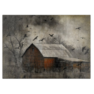 Crows And Old Barn Cutting Boards