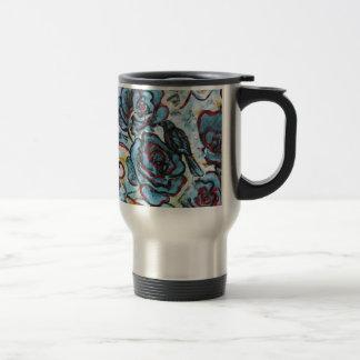 Crows and Roses Fine Art Traveler Mug