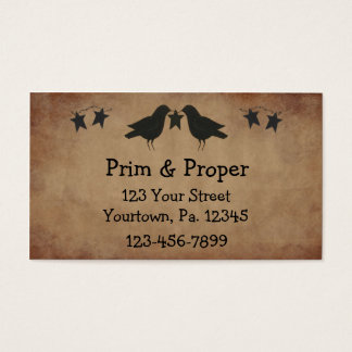 Crows And Stars Business Card