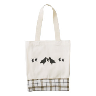 Crows and Stars HEART Tote Bag Zazzle HEART Tote Bag
