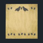"""Crows And Stars Notepad<br><div class=""""desc"""">This Crows And Stars Notepad is great for your primitive or country style decor or business.</div>"""