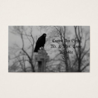 Crows Are Goth Business Card