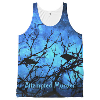 Crows-Attempted Murder Blue Skies Tank All-Over Print Tank Top