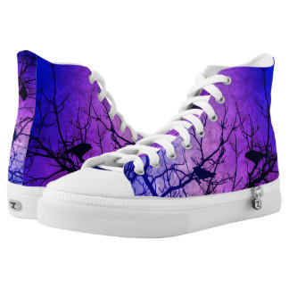 Crows-Attempted Murder Pink Nebula Hightop ZIPZ Printed Shoes