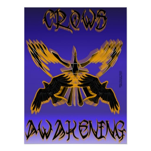 Crows Awakening Print