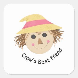Crows Best Friend Square Sticker