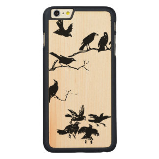 Crows Carved® Maple iPhone 6 Plus Slim Case