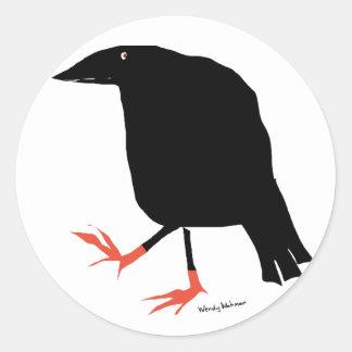 Crow's Feet Round Stickers