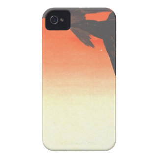 Crows Fly by Red Sky at Sunset by Shibata Zeshin Case-Mate iPhone 4 Case
