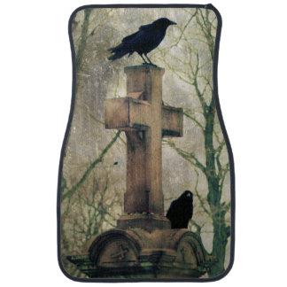Crows Gothic Art Blackbirds Ravens Car Mat