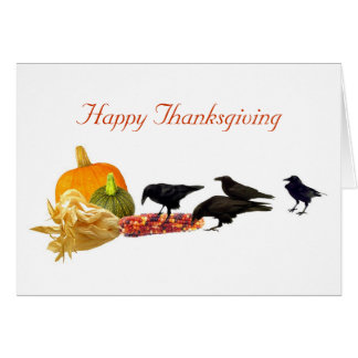 Crows' Harvest Happy Thanksgiving Card