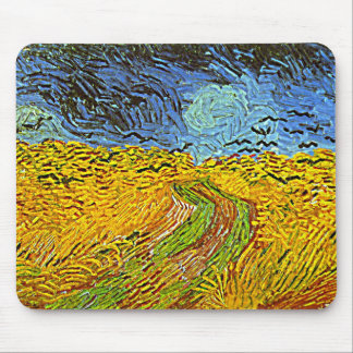 Crows in a Wheatfield Mouse Pad