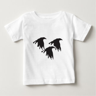 Crows in Flight Baby T-Shirt