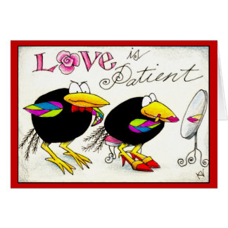 Crows in Love Valentines or Anniversary card