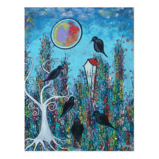 Crows In Waiting Postcard
