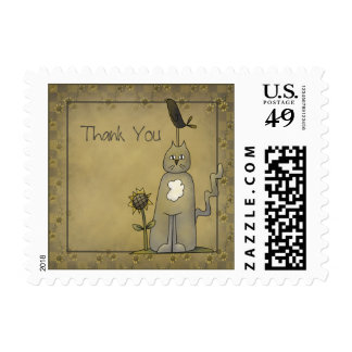 Crows Knows · Crow & Cat Thank You Stamp