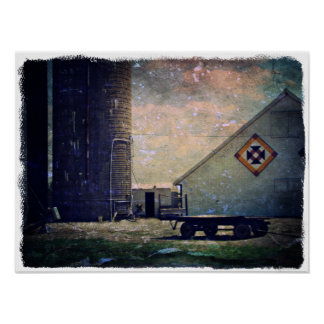 Crow's Nest Barn Quilt Poster