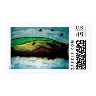 Crows off the Welsh Coast Postage Stamps