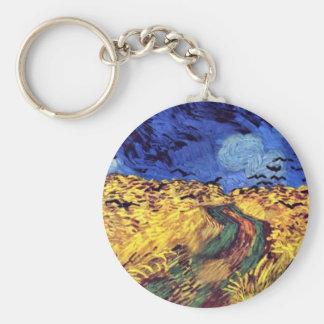 Crows Over Wheatfield By Vincent Van Gogh Keychain