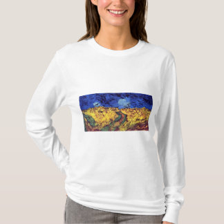 Crows Over Wheatfield By Vincent Van Gogh T-Shirt