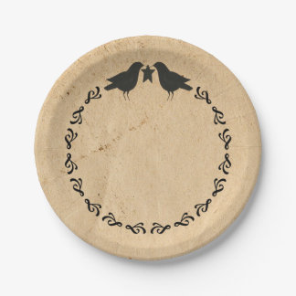 Crows Paper Plate 7 Inch Paper Plate