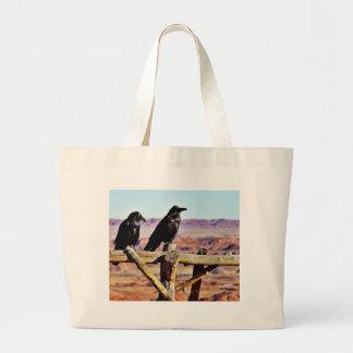 Crows Ravens Birds Black Tote Bag