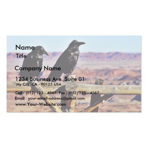 Crows Ravens Birds Black Business Card Template