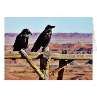 Crows Ravens Birds Black Greeting Cards