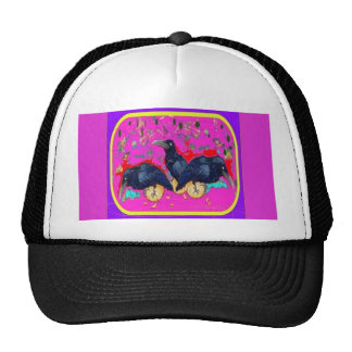 Crows Whimsy purple by Sharles Trucker Hat
