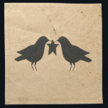 "Crows With Star Napkin<br><div class=""desc"">This Crows With Star Napkin is perfect for a Country or Primitive style kitchen or dinette.</div>"